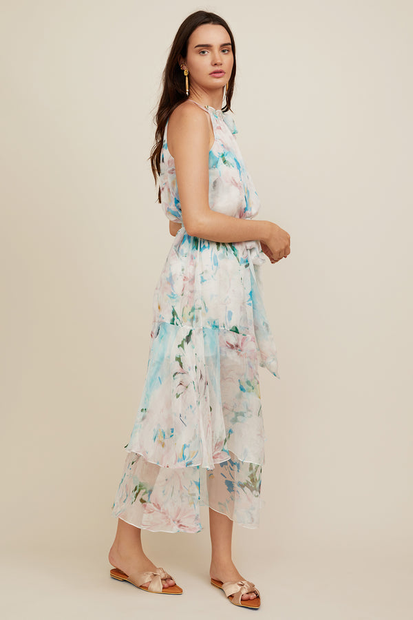 Elodie Dress - Watercolor Floral