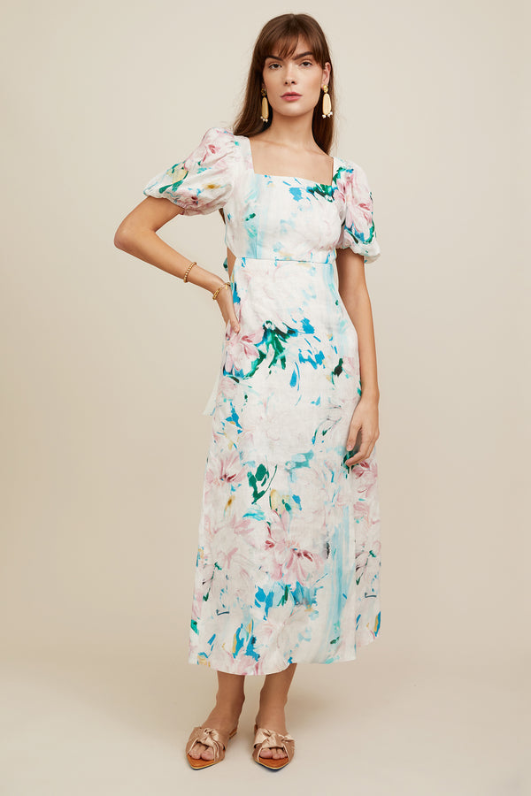 Jacqueline Dress - Watercolor Floral