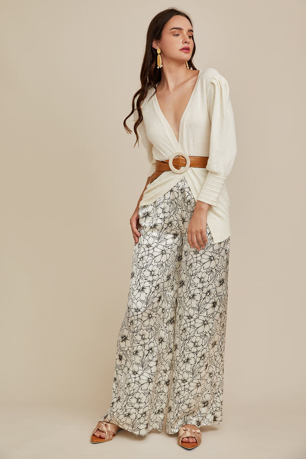 Jade Pant - Etched Floral