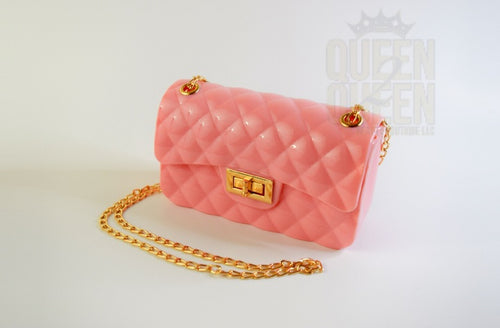 BUBBLEGUM CLUTCH/CROSSBODY PURSE