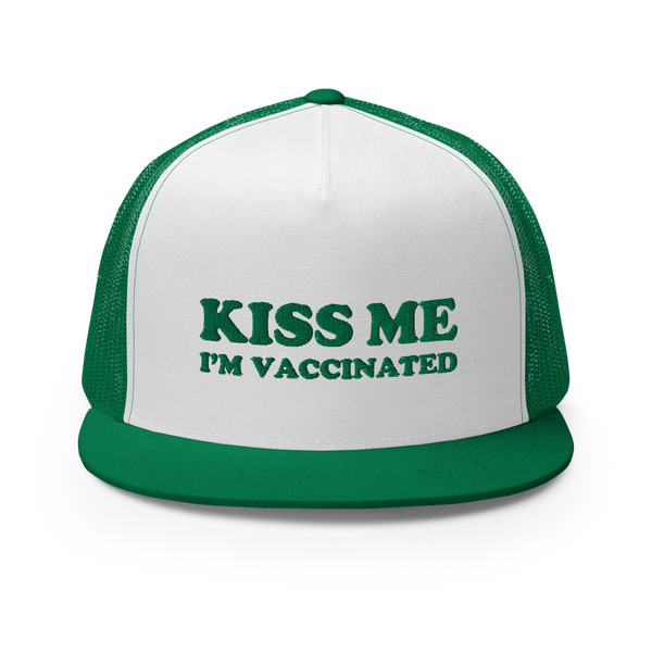 Kiss Me I'm Vaccinated Trucker Hat