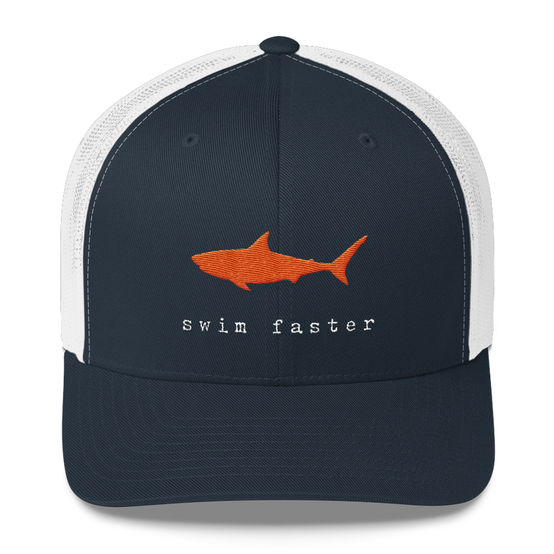Swim Faster Trucker Hat