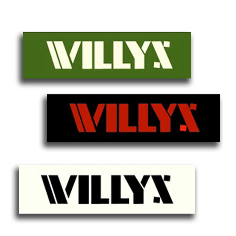 WILLYS Logo Vinyl Decal - Single