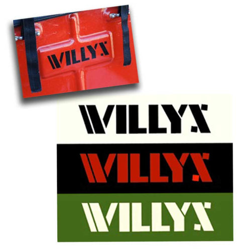 WILLYS Logo Vinyl Decals – Set of 4