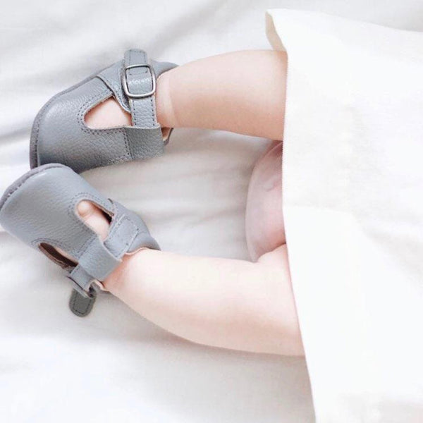 The Shaughnessy Shoe - Grey-Shoes-Aston Baby-sawyer + crew-Baby Clothing-Kids Clothes-Toddler Clothes