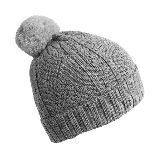 Pompom Beanie - Grey-Hats-Collegien-4-6 years-sawyer + crew-Baby Clothing-Kids Clothes-Toddler Clothes