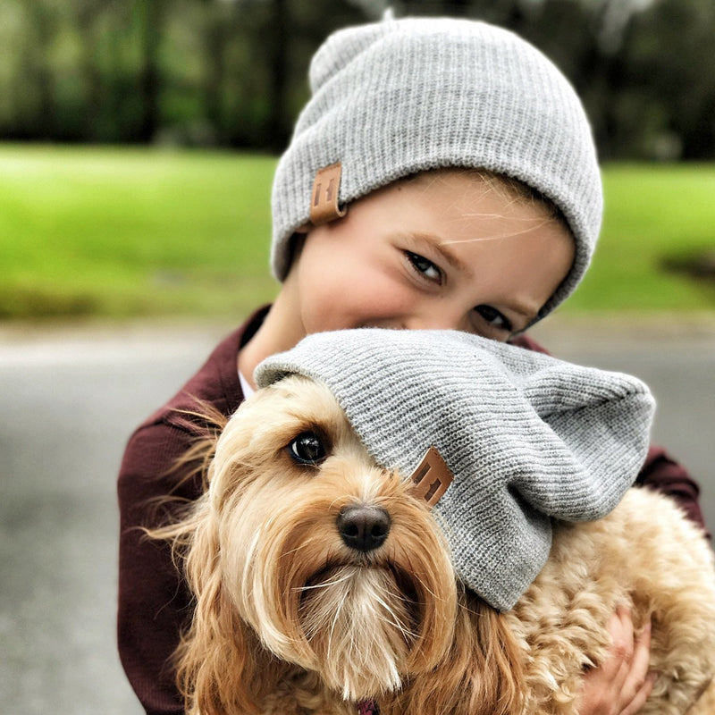 Unisex Knit Beanie - Grey Marle-Hats-Beau Hudson-sawyer + crew-Baby Clothing-Kids Clothes-Toddler Clothes