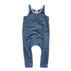 Classic Blue Stripe Romper-Rompers-Rad Revolution Kids-18-24m-sawyer + crew-Baby Clothing-Kids Clothes-Toddler Clothes