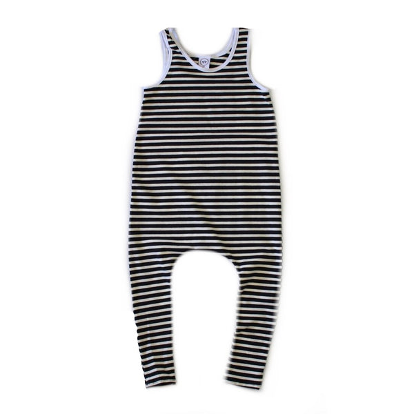 B&W Stripe Romper-Rompers-Rad Revolution Kids-18-24m-online baby shop- online boutique for kids-sawyer + crew-Baby Clothing-Kids Clothes-Toddler Clothes- cute newborn clothing-clothing for babies- mommy and me-twinning tees-graphic tees for moms and kids-online boutique for babies-boho clothes for kids-online store for kids-organic clothing for babies