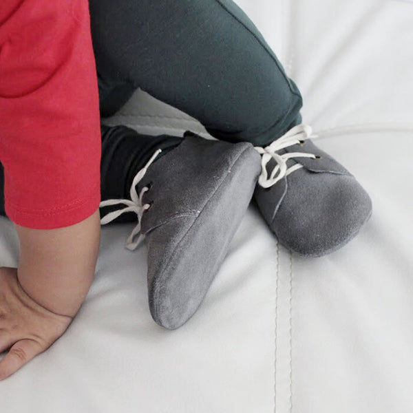 The Jericho Shoe - Grey-Shoes-Aston Baby-sawyer + crew-Baby Clothing-Kids Clothes-Toddler Clothes
