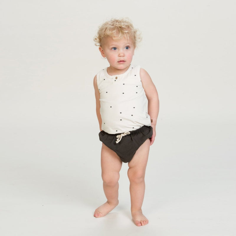Organic Bloomers - Slate-Bloomers-KidWild Organics-0-6 months-sawyer + crew-Baby Clothing-Kids Clothes-Toddler Clothes
