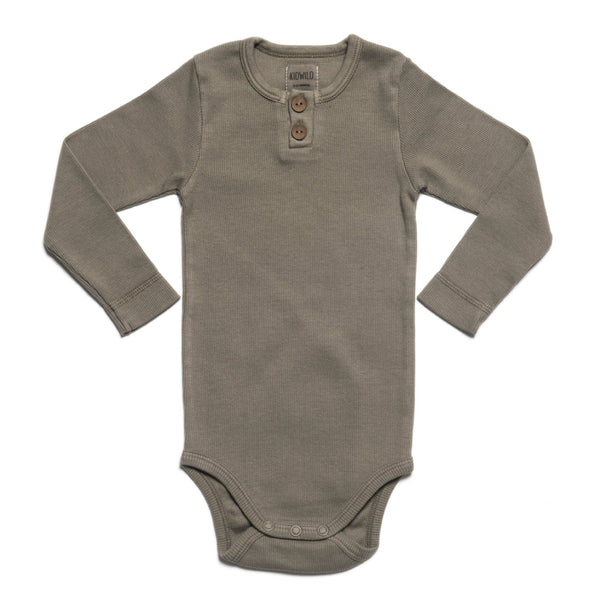Organic Vintage Bodysuit L/S - Moss-Onesies-KidWild Organics-3-6 months-sawyer + crew-Baby Clothing-Kids Clothes-Toddler Clothes