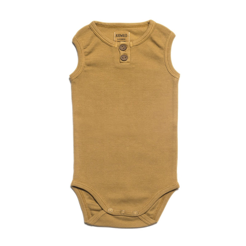 Organic Vintage Bodysuit S/L - Ochre-Onesies-KidWild Organics-3-6 months-online baby shop- online boutique for kids-sawyer + crew-Baby Clothing-Kids Clothes-Toddler Clothes- cute newborn clothing-clothing for babies- mommy and me-twinning tees-graphic tees for moms and kids-online boutique for babies-boho clothes for kids-online store for kids-organic clothing for babies