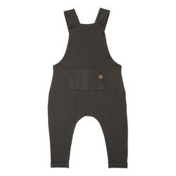 Organic Suspender Pants - Slate-Rompers-KidWild Organics-12-18 months-sawyer + crew-Baby Clothing-Kids Clothes-Toddler Clothes