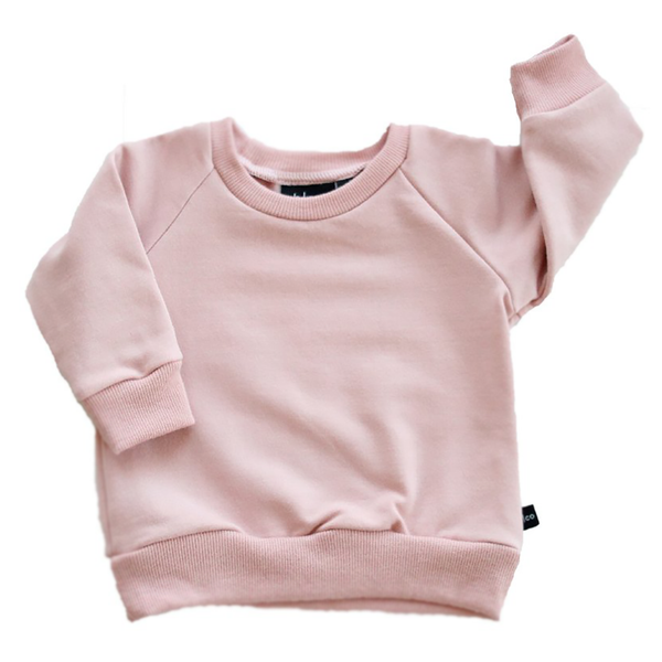 Fleece Sweatshirt - Blush-Tops-Babysprouts-9-12 months-online baby shop- online boutique for kids-sawyer + crew-Baby Clothing-Kids Clothes-Toddler Clothes- cute newborn clothing-clothing for babies- mommy and me-twinning tees-graphic tees for moms and kids-online boutique for babies-boho clothes for kids-online store for kids-organic clothing for babies