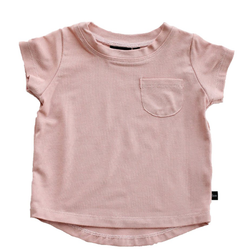 Pocket Tee - Blush-Tops-Babysprouts-18-24 months-sawyer + crew-Baby Clothing-Kids Clothes-Toddler Clothes
