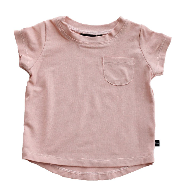 Pocket Tee - Blush-Tops-Babysprouts-18-24 months-online baby shop- online boutique for kids-sawyer + crew-Baby Clothing-Kids Clothes-Toddler Clothes- cute newborn clothing-clothing for babies- mommy and me-twinning tees-graphic tees for moms and kids-online boutique for babies-boho clothes for kids-online store for kids-organic clothing for babies