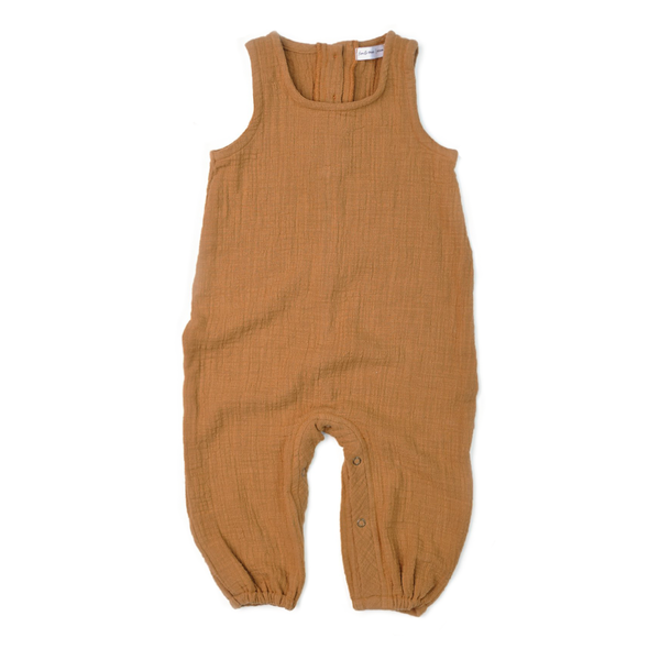 Tank Romper - Honey Double Gauze-Rompers-Fin & Vince-12-24 months-sawyer + crew-Baby Clothing-Kids Clothes-Toddler Clothes