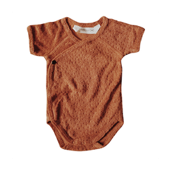 Kimono Terry Bodysuit - Copper-Onesies-Susukoshi-NB-online baby shop- online boutique for kids-sawyer + crew-Baby Clothing-Kids Clothes-Toddler Clothes- cute newborn clothing-clothing for babies- mommy and me-twinning tees-graphic tees for moms and kids-online boutique for babies-boho clothes for kids-online store for kids-organic clothing for babies