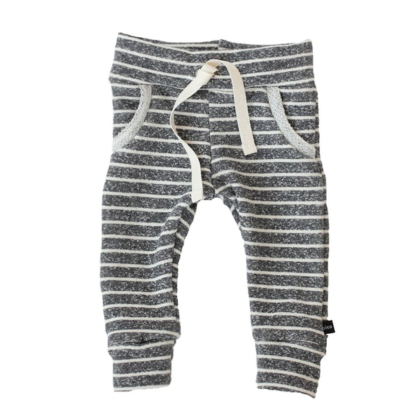 Jogger Sweats - Heather Charcoal Stripes-Bottoms-Babysprouts-18-24 months-online baby shop- online boutique for kids-sawyer + crew-Baby Clothing-Kids Clothes-Toddler Clothes- cute newborn clothing-clothing for babies- mommy and me-twinning tees-graphic tees for moms and kids-online boutique for babies-boho clothes for kids-online store for kids-organic clothing for babies