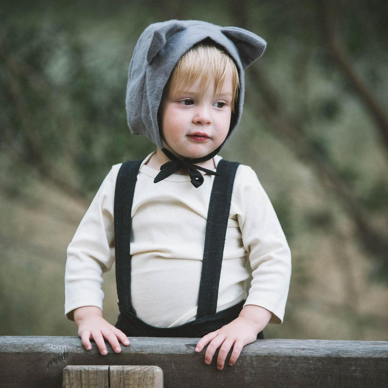 Organic Flannel Cat Hat-Hats-EllieFunDay-sawyer + crew-Baby Clothing-Kids Clothes-Toddler Clothes