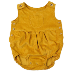 Corduroy Romper - Mustard-Rompers-Fin & Vince-6-12 months-sawyer + crew-Baby Clothing-Kids Clothes-Toddler Clothes