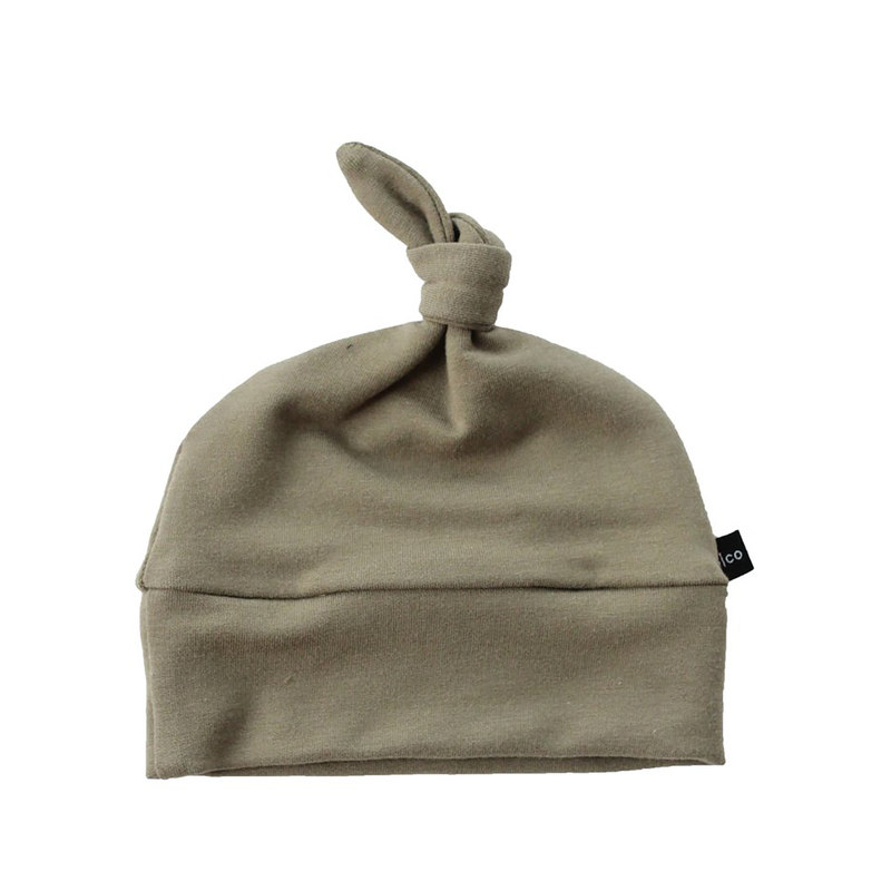 Knotted Hat - Olive-Hats-Babysprouts-3-6 months-sawyer + crew-Baby Clothing-Kids Clothes-Toddler Clothes