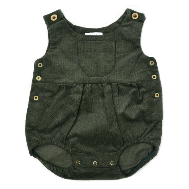 Corduroy Romper - Olive-Rompers-Fin & Vince-6-12 months-sawyer + crew-Baby Clothing-Kids Clothes-Toddler Clothes