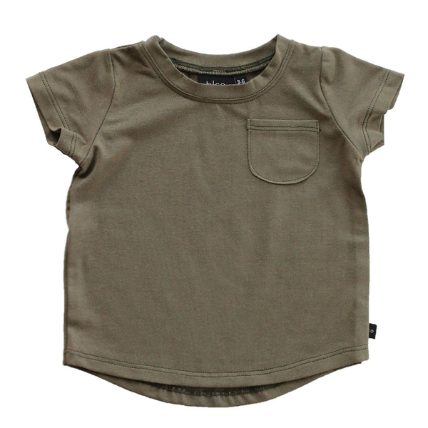 Pocket Tee - Olive-Tops-Babysprouts-18-24 months-sawyer + crew-Baby Clothing-Kids Clothes-Toddler Clothes