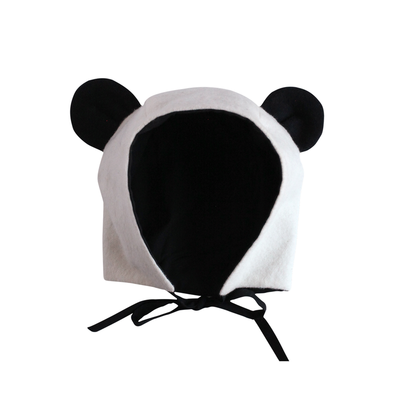 Organic Flannel Panda Hat-Hats-EllieFunDay-18m - 2T-sawyer + crew-Baby Clothing-Kids Clothes-Toddler Clothes