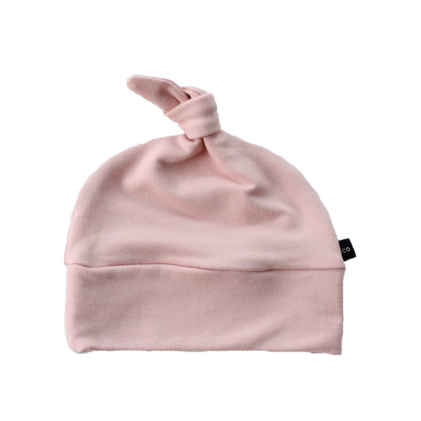 Knotted Hat - Blush-Hats-Babysprouts-3-6 months-sawyer + crew-Baby Clothing-Kids Clothes-Toddler Clothes