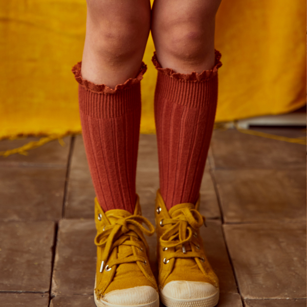 Ruffle Knee-High Socks-Socks-Collegien-sawyer + crew-Baby Clothing-Kids Clothes-Toddler Clothes