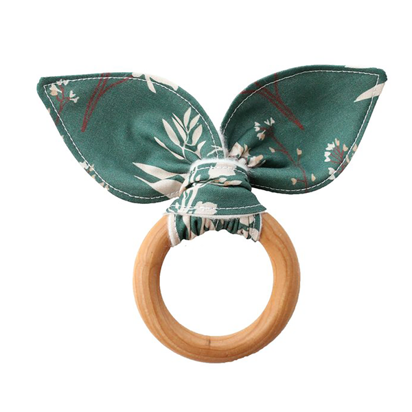 Teething Ring - Floral Study in Teal-Teethers-Babysprouts-sawyer + crew-Baby Clothing-Kids Clothes-Toddler Clothes