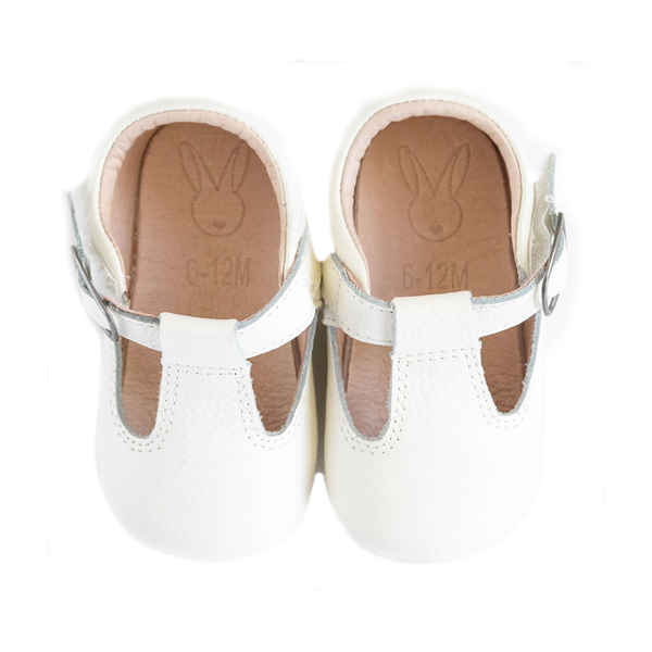 The Shaughnessy Shoe - White-Shoes-Aston Baby-12-18 months-sawyer + crew-Baby Clothing-Kids Clothes-Toddler Clothes