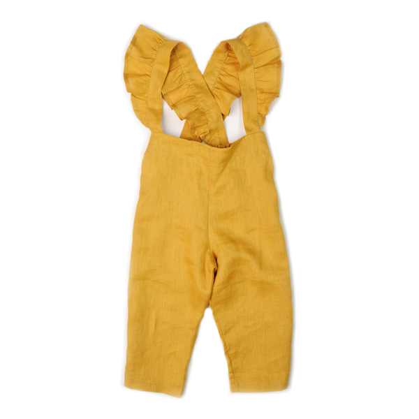Ruffle Culotte - Dandelion-Rompers-Fin & Vince-2-3 years-sawyer + crew-Baby Clothing-Kids Clothes-Toddler Clothes