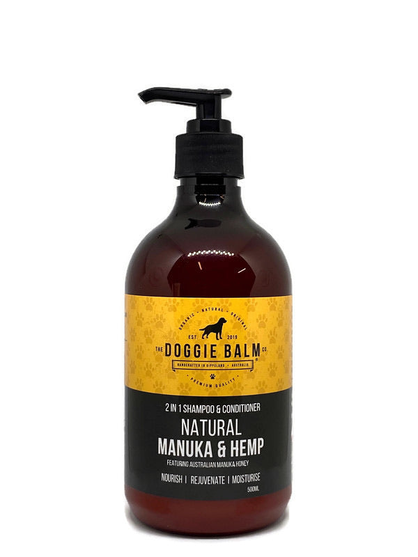 DoggieBalm Natural Manuka & Hemp Shampoo and Conditioner
