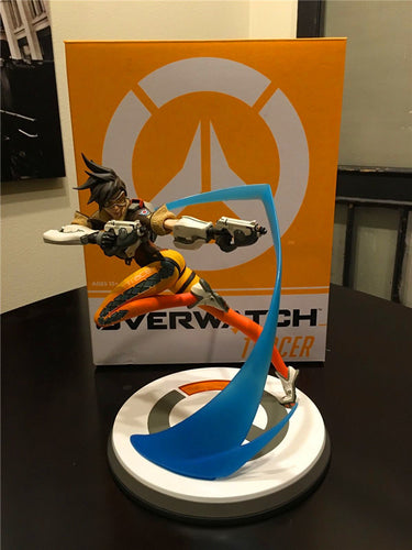 Overwatch Hero Tracer Lena Oxton Figure LED Version - 26CM