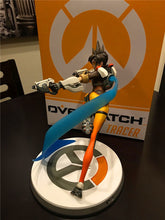Load image into Gallery viewer, Overwatch Hero Tracer Lena Oxton Figure LED Version - 26CM