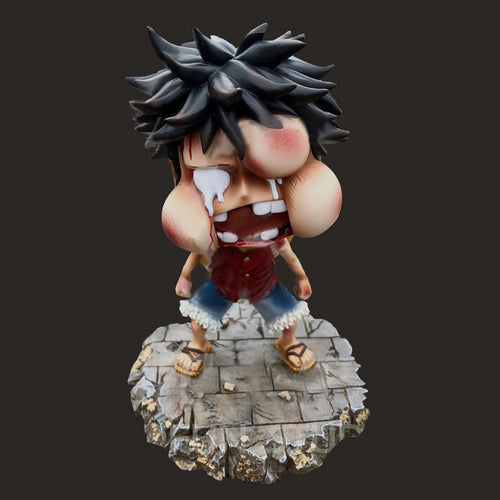 One piece luffy Swelled face nendoroid - 15cm