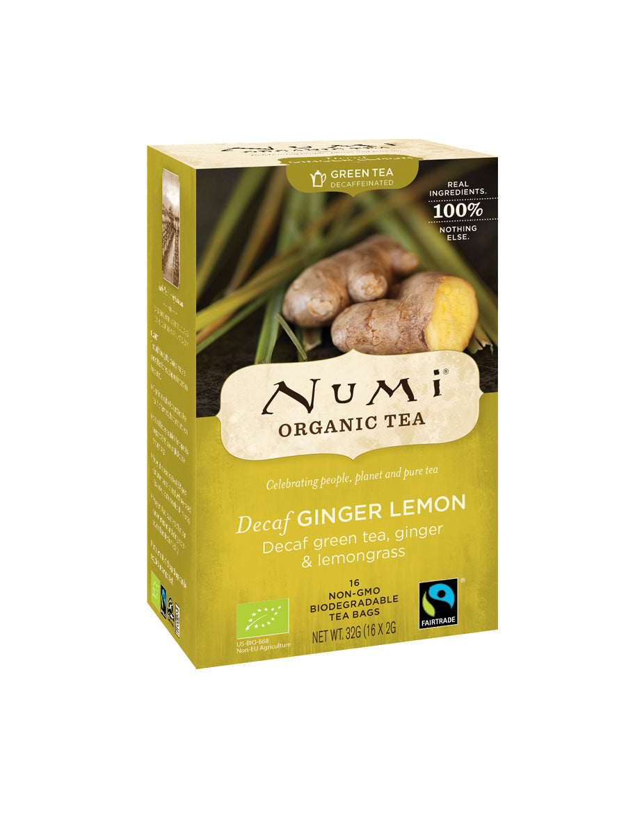 Te Ginger Lemon Decaf ™ ØKO grøn te