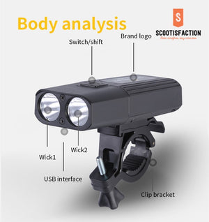 Front light Luces EXTERNAS 1 ideal for dark road electric scooter or bicycle