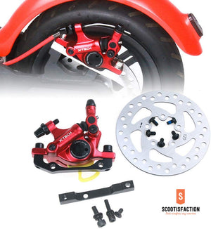 XTECH BRAKE RED OR BLACK CALLIPER BUNDLE FOR XIAOMI M365/ 1S/ PRO/ PRO2/ LITE ELECTRIC SCOOTER