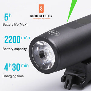 FRONT OR REAR LIGHT LED HEADLIGHT FOR ELECTRIC SCOOTER AND BICYCLE