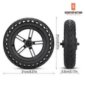 REAR WHEEL ASSEMBLED SOLID TYRE HONEYCOMB WITH HUB FOR M365/ 1S/ LITE XIAOMI
