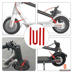 FRONT & REAR WHEEL STICKERS COVER REFLECTOR FOR XIAOMI M365/ 1S/ PRO ELECTRIC SCOOTER