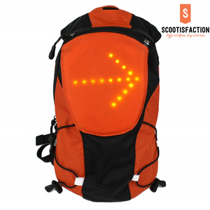 Led turn signal backpack for Electric scooter Xiaomi Ninebot or Bicycle riders