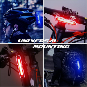 SAFETY WARNING LED WATERPROOF REAR LIGHT FOR ESCOOTER AND BICYCLE