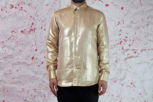 Gold Cotton shirt