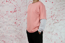 Load image into Gallery viewer, Pink sweatshirt with grey removable sleevs
