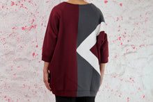 Load image into Gallery viewer, Oversized sweatshirt maroon